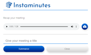 Give meeting title and click on summarize button.